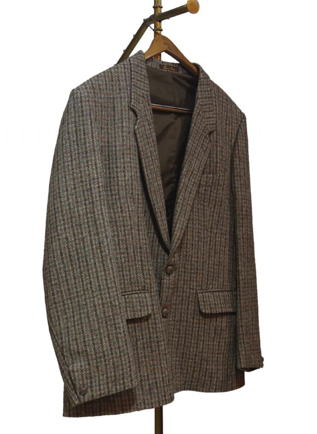 70's UK Harris Tweed Vintage Big Size Jacket #0012<img class='new_mark_img2' src='https://img.shop-pro.jp/img/new/icons8.gif' style='border:none;display:inline;margin:0px;padding:0px;width:auto;' />