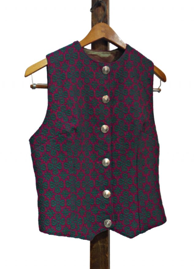 UK 60's Vintage Welsh Wool Tapestry Vest #0027<img class='new_mark_img2' src='https://img.shop-pro.jp/img/new/icons8.gif' style='border:none;display:inline;margin:0px;padding:0px;width:auto;' />