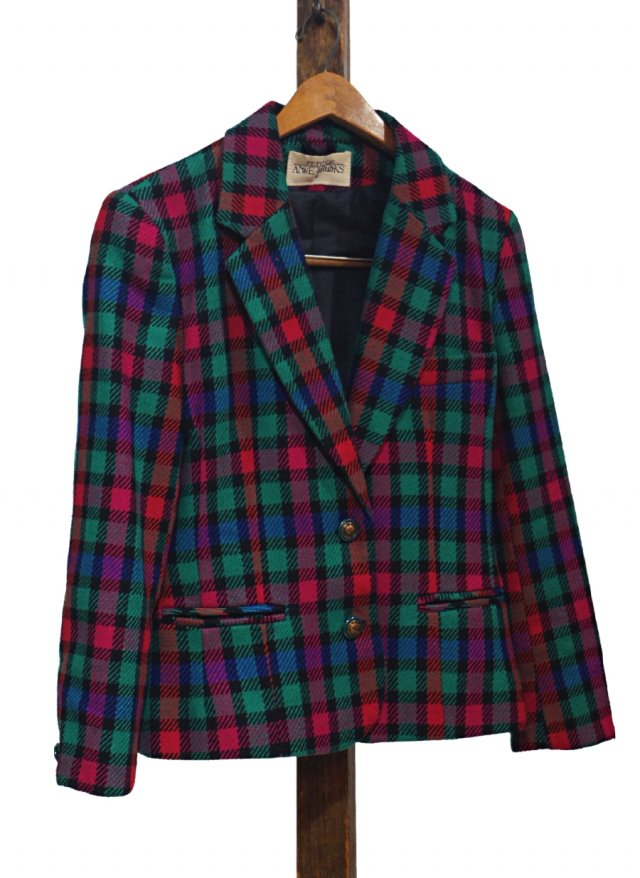 UK Vintage Wool Check Jacket #0036<img class='new_mark_img2' src='https://img.shop-pro.jp/img/new/icons8.gif' style='border:none;display:inline;margin:0px;padding:0px;width:auto;' />