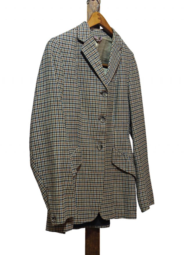 UK Vintage Hacking Wool Check Jacket HARRY HALL×Sandon Saddlery Company #0041<img class='new_mark_img2' src='https://img.shop-pro.jp/img/new/icons8.gif' style='border:none;display:inline;margin:0px;padding:0px;width:auto;' />
