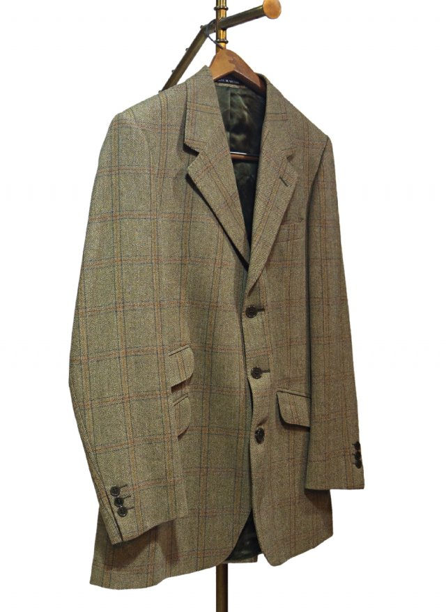 UK Vintage John G Hardy Check Tweed Hacking Jacket #0014<img class='new_mark_img2' src='https://img.shop-pro.jp/img/new/icons8.gif' style='border:none;display:inline;margin:0px;padding:0px;width:auto;' />