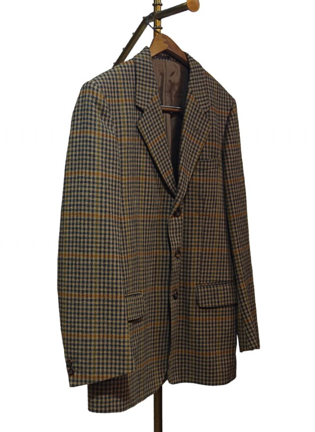 Ireland Vintage Check Tweed Jacket #0015<img class='new_mark_img2' src='https://img.shop-pro.jp/img/new/icons8.gif' style='border:none;display:inline;margin:0px;padding:0px;width:auto;' />