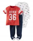 【カーターズ】3pc上下セット ボディスーツ パンツ 男の子ベビー服 コットン(HUNK36)