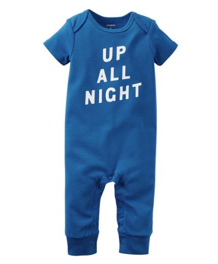 【カーターズ】カバーオールロンパースベビー服 男の子コットン(Up All Night)