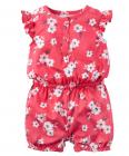 【カーターズ】オールインワン ロンパースカバーオール ベビー服 女の子 ジャンプスーツ(Flower)