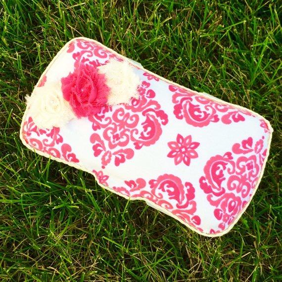 【LauraLeeDesigns】おしりふきケース/ ローラリーデザインワイプケース(Cream&Pink)