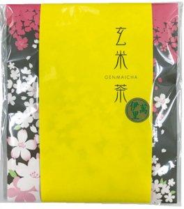 H5115 伊萬里・抹茶入玄米茶ティーバッグ 桜柄飾り袋入(九州佐賀県産)※ネコポス・郵便レターパック可