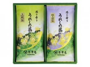 H6214 九州・佐賀県産 嬉野特上煎茶・上煎茶詰合せ ※郵便レターパックプラス520可