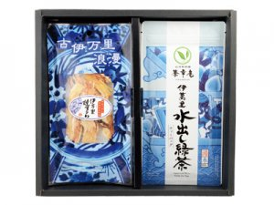 H164 伊萬里水出し緑茶&伊万里焼するめ <img class='new_mark_img2' src='https://img.shop-pro.jp/img/new/icons15.gif' style='border:none;display:inline;margin:0px;padding:0px;width:auto;' />