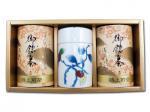 H3025 伊万里焼 茶筒【錦柿】& 特上煎茶(九州 佐賀県産・嬉野茶)2本入