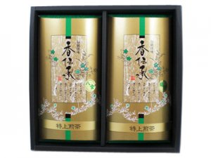 H356 九州銘茶2本入 佐賀県産・嬉野茶、福岡県産・八女茶詰合せ