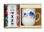 H8324 伊万里焼マグカップ・赤い果実&伊萬里茶セット(九州・佐賀県産)