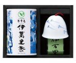 H8304 伊万里焼風鈴【めだか】&伊萬里茶セット(九州・佐賀県産)