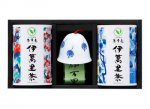 H8302 伊万里焼風鈴【木の葉】&伊萬里茶セット(九州・佐賀県産)