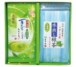 H151 夏茶だより&水出し緑茶2本入(九州・佐賀県産 嬉野茶) ※郵便レターパックプラス510可