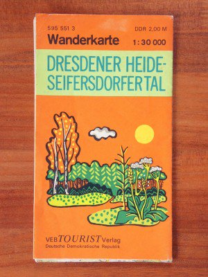 東ドイツ(DDR)の古地図 DRESDERNER HEIDE