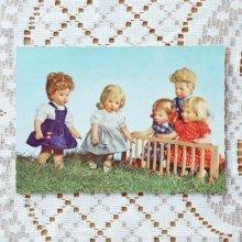 ドイツ ヴィンテージポストカード 5人の子供×玉運び競争 (未使用)