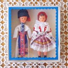 チェコ 民族衣装のミニチュアドールカップル 箱入り