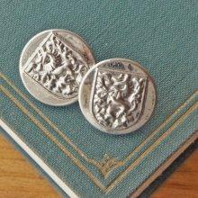 オーストリア メタルボタン 紋章×シルバー