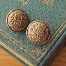 ドイツ メタルボタン 紋章と太陽×ブロンズ