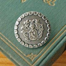 オーストリア メタルボタンL 馬の紋章×シルバー