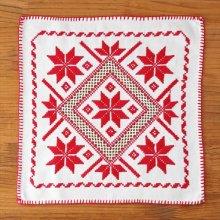 ハンガリー アーガイル刺繍のクロスWH スクエア