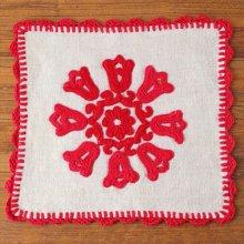 ルーマニア イーラーショシュ刺繍のクロスS スクエア赤B