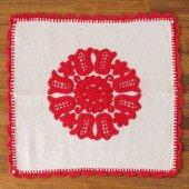ルーマニア イーラーショシュ刺繍のクロスM スクエア赤