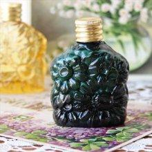 チェコスロバキア ボヘミアガラスの香水瓶 マーガレット四角/GR