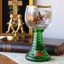 オーストリアのワイングラス 鳥とイノシシ×ゴールドリム