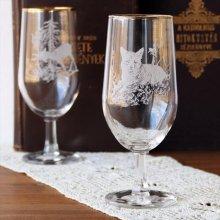 チェコスロバキア時代のワイングラスL キツネ
