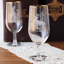 チェコスロバキア時代のワイングラスL トナカイ