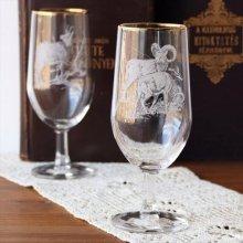 チェコスロバキア時代のワイングラスL ヒツジ