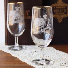 チェコスロバキア時代のワイングラスL ヤギ