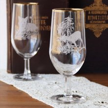 チェコスロバキア時代のワイングラスL シカ