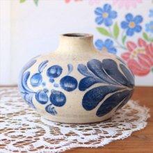 ハンガリーのフラワーベースGL 藍色の草花
