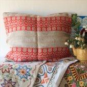 ハンガリー 刺繍のピローケース/クッションカバーGY×RE チューリップ