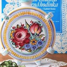 スロバキア リキュールボトル/フラワーベースWH 賑やかなお花ペイント
