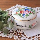 ハンガリー 陶器製の小物入れ お花ペイント