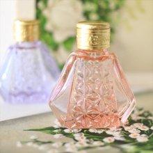 チェコ ボヘミアガラス 香水瓶 六角×ダイヤPI