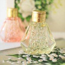 チェコ ボヘミアガラス 香水瓶 六角×ダイヤYE