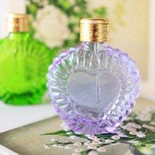 チェコ ボヘミアガラス 香水瓶 ハートPU