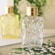チェコ ボヘミアガラス 香水瓶 木の実CL