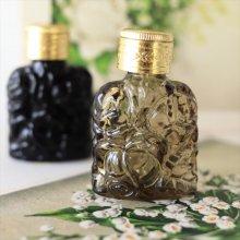 チェコ ボヘミアガラス 香水瓶 ローズKH