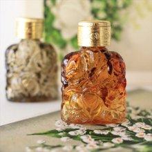 チェコ ボヘミアガラス 香水瓶 ローズAM