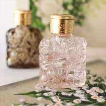 チェコ ボヘミアガラス 香水瓶 ローズPI