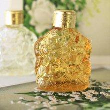 チェコ ボヘミアガラス 香水瓶 マーガレットYE