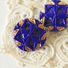 チェコ ボヘミアガラスのボタン ダイヤパズル/NV