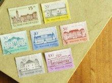 ハンガリーの切手 お城B 7枚セット 消印付