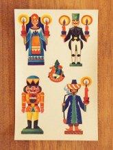 ドイツ 水シール キャンドルスタンドとくるみ割り人形 5枚組